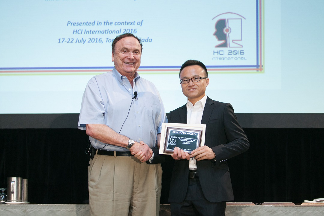 Best Paper Award for the 13th International Conference on Engineering Psychology and Cognitive Ergonomics