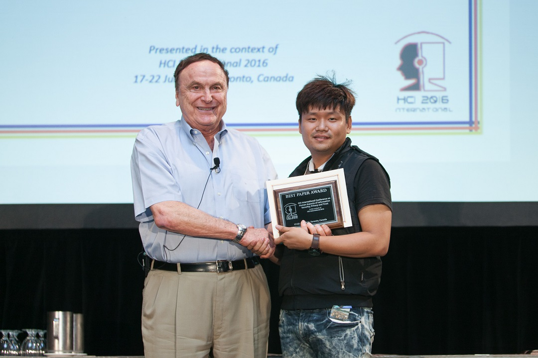 Best Paper Award for the 4th International Conference on Human Aspects of Information Security, Privacy and Trust