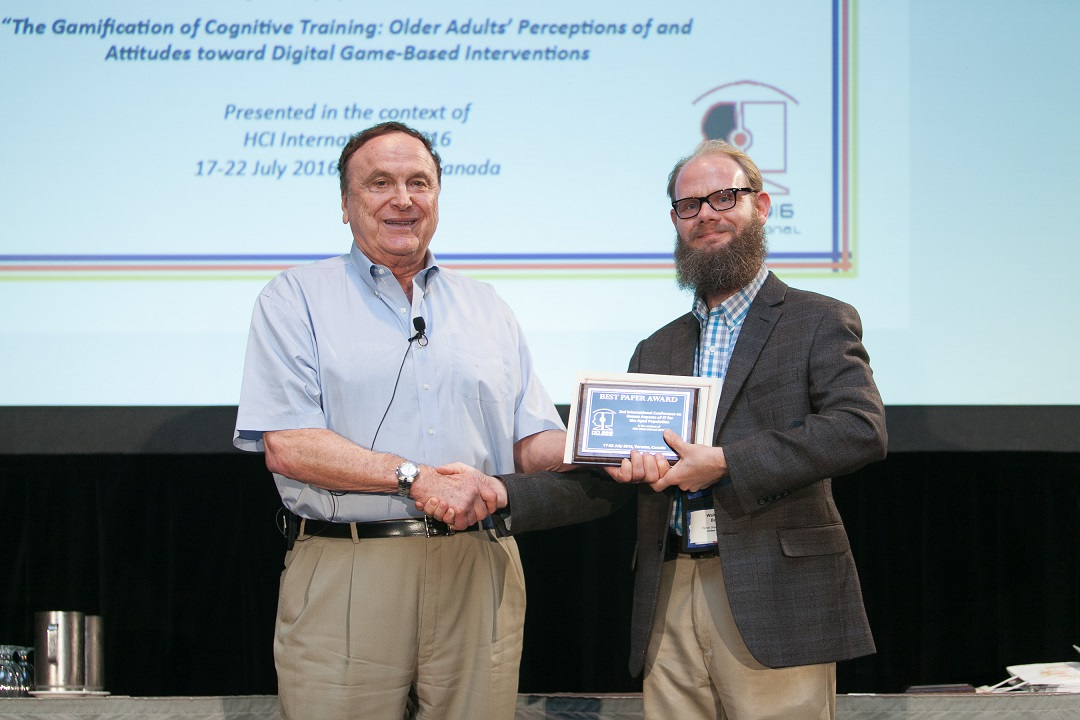Best Paper Award for the 2nd International Conference on Human Aspects of IT for the Aged Population