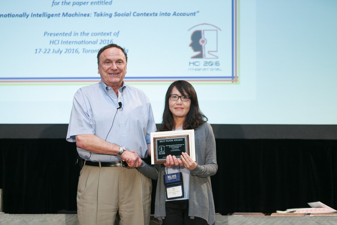 Best Paper Award for the 8th International Conference on Social Computing and Social Media