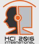 Logo: Human-Computer Interaction International, 2016